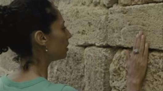 "Suheir Hammad in ""Salt of this sea""."